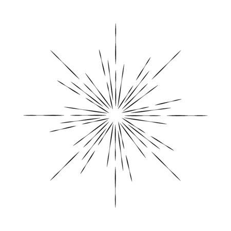 Abstract radial speed lines in circle form. Explosion shape. Sunburst. Design element for , prints, web, template, presentation and textile pattern Vektoros illusztráció