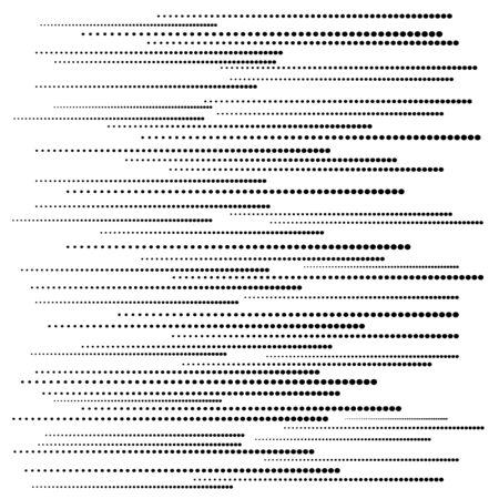 Abstrakte gepunktete horizontale Linien. Geometrische Figur. Einfarbiger Hintergrund. Trendiges Gestaltungselement für Drucke, Webseiten, Vorlagen und Textilmuster