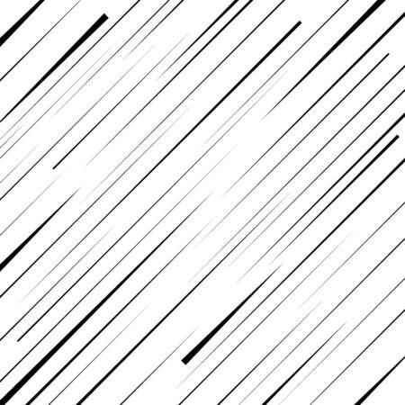 Black diagonal random width shapes. Monochrome background. Vector illustration. Oblique trendy pattern for prints, web, template, posters and textile design