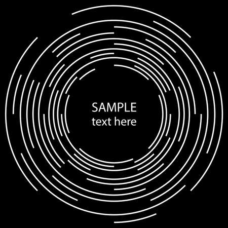 White radial concentric lines. Circle form. Vector illustration.