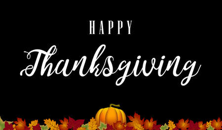 Happy Thanksgiving vector white handwritten text. Lettering inscription. Vector illustration for web pages, prints, template, gift, invitation and greeting card