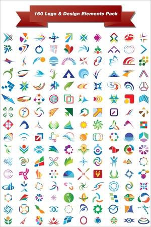 Dit is een set van logo design elementen, geschikt voor meerdere projecten Volledige bewerkbare