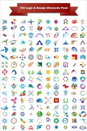This is a set of logo   design elements, suitable for several projects  Full editable Stock Vector - 13952483