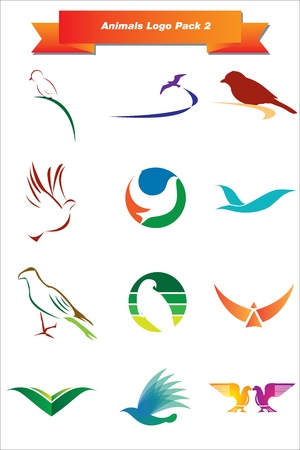 corporate image: This is a set of vector logo   design elements, suitable for several projects  Full editable