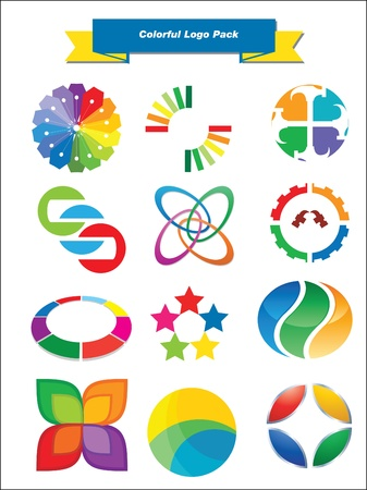 This is a set of logo   design elements, suitable for several projects  Full editable Stock Vector - 13952432