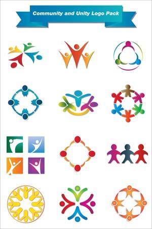 Se trata de un conjunto de elementos del vector de diseño del logotipo, adecuado para los proyectos completos de varios editable