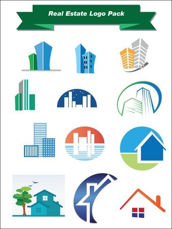 logotipo de construccion: Se trata de un conjunto de elementos de diseño del logotipo, adecuado para los proyectos completos de varios editable
