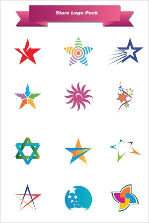 This is a set of logo   design elements, suitable for several projects  Full editable Stock Vector - 13952460