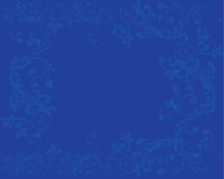 Simple and clean Abstract blue floral background Illustration