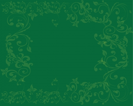 Simple and clean Abstract green floral background Illustration