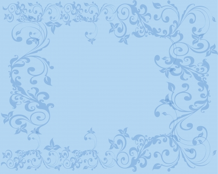 Simple and clean Abstract light blue floral background