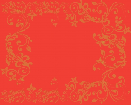 Simple and clean Abstract orange floral background