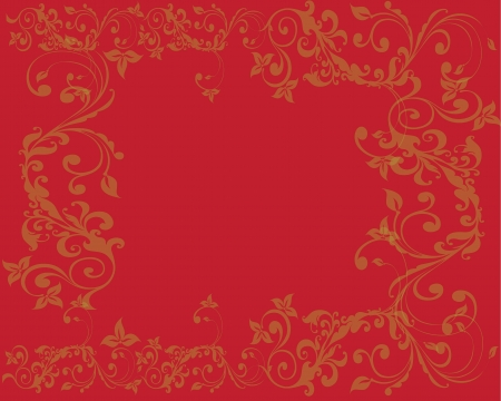 Simple and clean Abstract red floral background