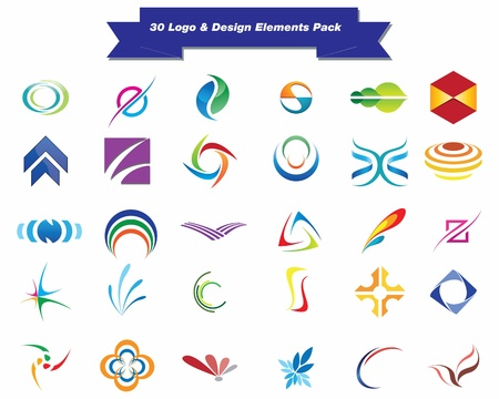 elements for logo: This is a set of vector logo   design elements, suitable for several projects  Full editable