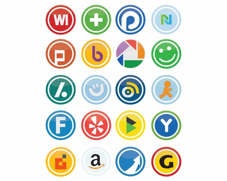 This is a set of Vector Social Media Icons, suitable for several projects. Full editable Stock Photo - 14200971