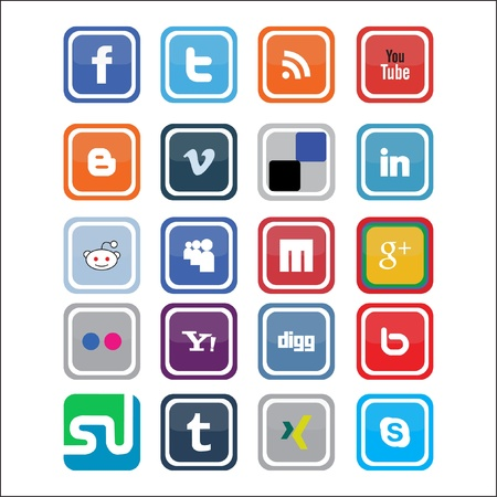 This is a set of Vector Social Media Icons, suitable for several projects. Full editable