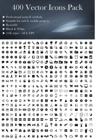 iconos: Este es un paquete simple, elegante y profesional de los iconos Vectores