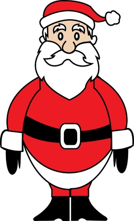 resizable: This´s a simple vector Santa Claus character suitable for several projects  It´s full editable and resizable  Illustration