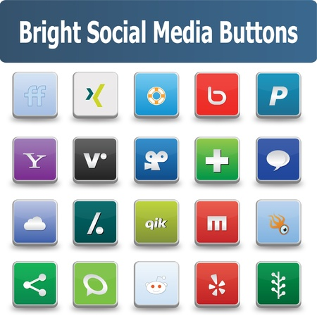 resizable: This a set of  social media buttons suitable for your web and mobile projects  Full resizable and editable
