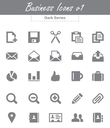 This is a cool, simple and very high quality set of vector business icons for web and mobile design projects. Suitable for several purposes like websites, illustrations, print templates, presentation templates. Full re sizable and editable. Stock Vector - 18556322