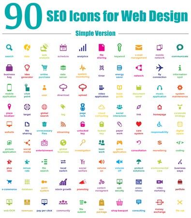 empacar: Este es un paquete fresco, creativo y de alta calidad de 90 iconos de SEO adecuados para proyectos web y dise�o m�vil. Caracter�sticas principales: 90 iconos del vector de SEO, archivos de vectores, lleno editable, f�cil de cambiar de color y cambio de tama�o. Vectores