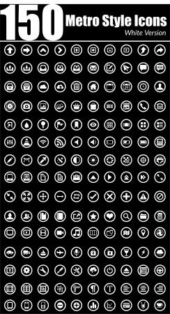 Dit is een eenvoudige maar elegante set van pictogrammen geschikt voor web-en mobiele projecten Stock Illustratie