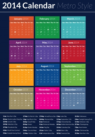 This is a simple but creative and elegant calendar for the 2014 year.