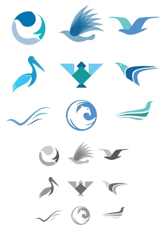 This is a set of vector abstract bird icons suitable for several projects. Illustration
