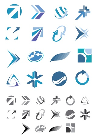 This is a set of vector abstract icons suitable for several projects.