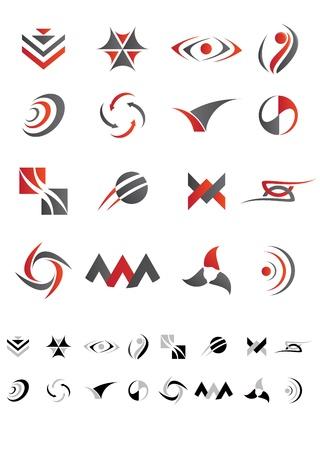 Dit is een set van vector abstracte pictogrammen geschikt voor meerdere projecten.