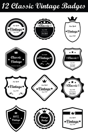 This is a nice, simple and elegant set of classic vintage badges suitable for your graphic and web projects. They are fully resizable and editable.