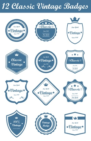 resizable: This is a nice, simple and elegant set of classic vintage badges suitable for your graphic and web projects. They are fully resizable and editable.