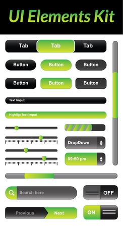 This is a nice, simple and elegant pack of vector user interface elements suitable for your graphic and web projects.