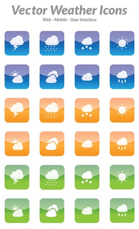 This is a simple, clean and unique set of  weather icons for web and mobile projects. Full editable and resizable. Good for mobile weather applications.
