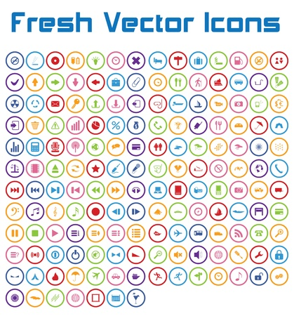 This is a nice, simple and elegant set of 161 vector icons suitable for your graphic and web projects  mobile, websites, presentations, infographics, user interfaces and print   They are fully resizable and editable and 100 percent vector  Vector