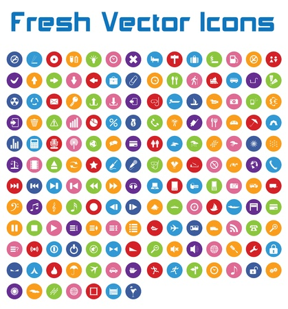 This is a nice, simple and elegant set of 161 vector icons suitable for your graphic and web projects  mobile, websites, presentations, infographics, user interfaces and print   They are fully resizable and editable and 100 percent vector  Stock Vector - 21004989