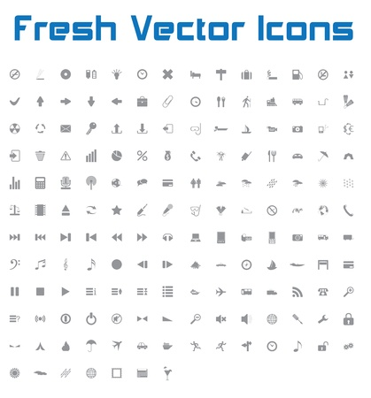 This is a nice, simple and elegant set of 161 vector icons suitable for your graphic and web projects  mobile, websites, presentations, infographics, user interfaces and print   They are fully resizable and editable and 100 percent vector Stock Vector - 21004990
