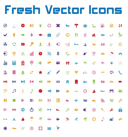 This is a nice, simple and elegant set of 161 vector icons suitable for your graphic and web projects  mobile, websites, presentations, infographics, user interfaces and print   They are fully resizable and editable and 100 percent vector  Stock Vector - 21004992