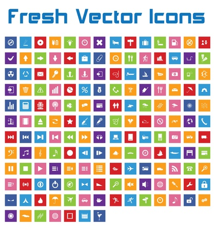 This is a nice, simple and elegant set of 161 vector icons suitable for your graphic and web projects  mobile, websites, presentations, infographics, user interfaces and print   They are fully resizable and editable and 100 percent vector  Stock Vector - 21004995