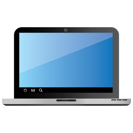 Vector Laptop device suitable for several projects  Full resizable and editable