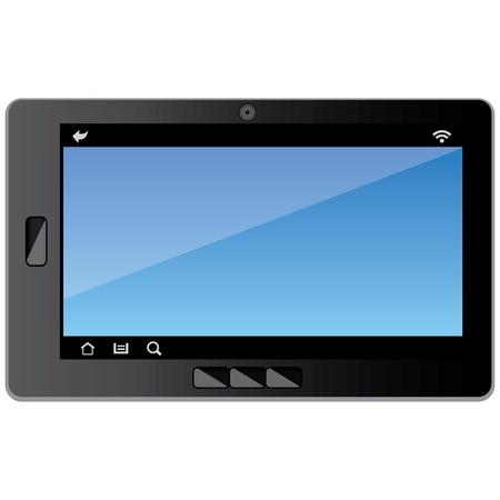 Vector Tablet apparaat geschikt voor meerdere projecten Volledige grootte en editeerbaar Stock Illustratie