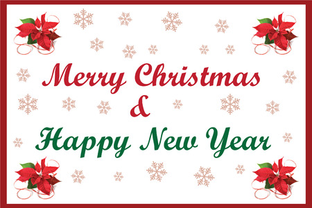 This is a simple, clean and elegant Christmas card suitable for the festive season