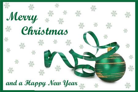 Dit is een eenvoudige, schone en elegante Kerstkaart geschikt voor de feestdagen
