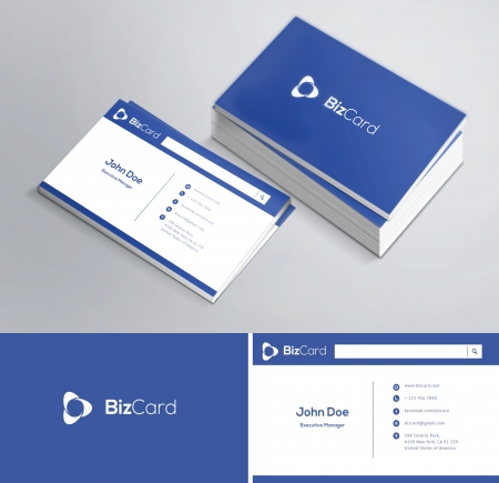 This is a modern, clean and elegant 2 sided business card   Vettoriali