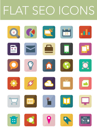 web icons: This is a nice, simple and elegant set of 30 vector seo icons suitable for your graphic and web projects (mobile, websites, presentations, infographics, user interfaces and print). They are fully resizable and editable and 100 percent Vector.