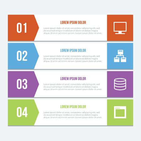 Flat Infographics Elements 03 Stock Illustratie