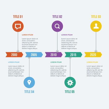 Flat Infographics Elements 05 Stock Illustratie