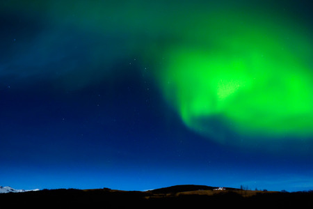 captured: northern lights captured in Iceland during winter Stock Photo