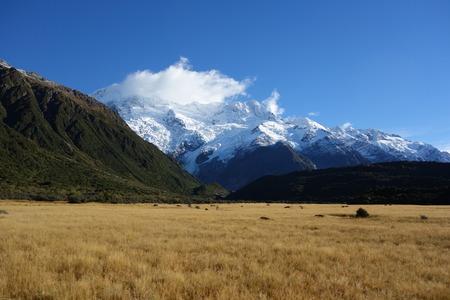 Various colors of Aoraki national park New Zealand photo