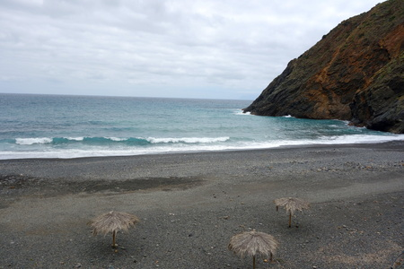 vallehermoso: Vallehermoso beach in La Gomera Canary island